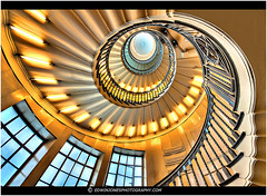 Heals Golden Spiral (Edwinjones) Tags: wood city uk windows light england urban colour building london art window beautiful up lines yellow architecture stairs circle spiral photography grey golden photo high europe exposure pattern looking dynamic angle geometry interior crafts sony capital curves wide steps perspective arts sigma departmentstore photograph staircase end handrail swirl banister elegant curve deco range hdr highdynamicrange tottenhamcourtroad circular tottenham topaz heals 10mm photomatix tonemapped tonemapping d700 londonhdr dslra700