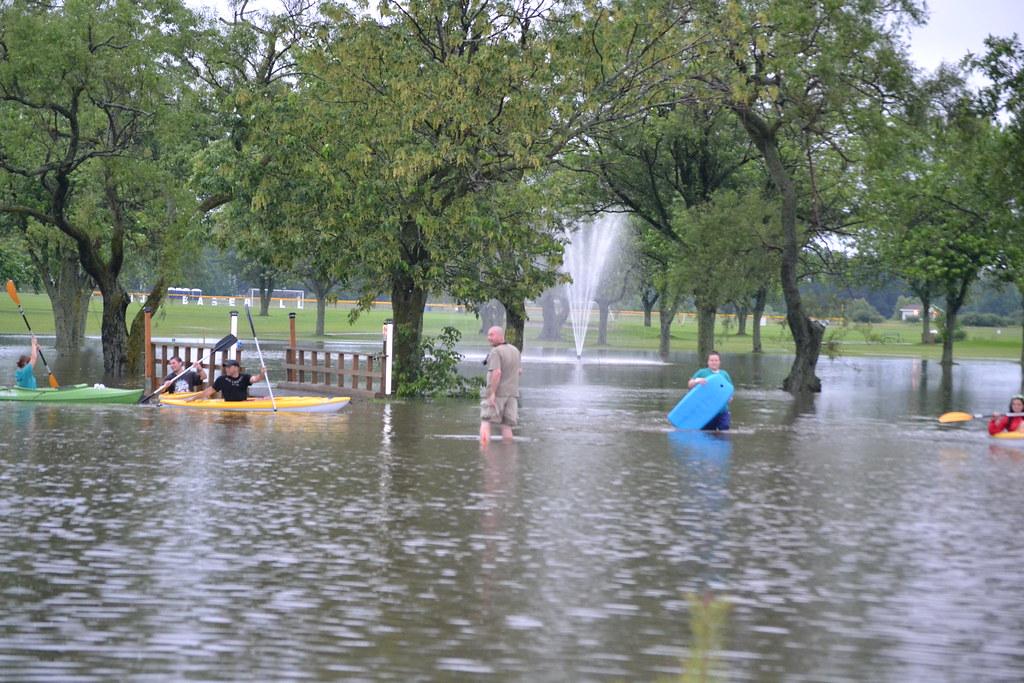 kayaking the 10th fairway 2