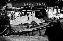 Watermelon farmer's daughter (Picocoon) Tags: bear summer blackandwhite bw tractor girl night toy living sleep documentary scene tokinaatxpromacro35mmf28dx