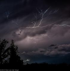 Thunderstorm 5aug2013 (robvanderwaal) Tags: storm netherlands weather nederland thunderstorm lightning bui onweer bliksem 2013 rvdwaal robvanderwaalfotografienl