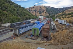 DSCF7761 (RHMImages) Tags: ca railroad shop yard rust fuji railway trains historic rusted fujifilm restoration rusting sunol brightside nilescanyonrailway ncry x100s