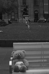 Where is teddy? Children playing @ Victoria State Library #3 (Let my photography tell you my story) Tags: family blackandwhite bw playing love kids canon children fun amazing teddy australia melbourne victoria enjoy cbd enjoying canoneos5dmarkiii