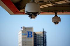 Low Hanging Fruit (Andy Marfia) Tags: chicago building architecture cta surveillance platform bank security el f45 uptown cameras l redline 55200mm bridgeviewbank 14000sec d7100
