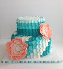 tealwm.jpg (jgaut11) Tags: cake coral teal ombre fantasyflower