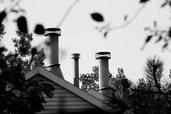 Stovepipe (vince_hamilton) Tags: roof blackandwhite bw white black building smoke stack