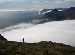 07_08_2013_0807 (andysuttonphotography) Tags: sea cliff cloud mist misty fog walking landscape island coast iceland bright outdoor hiking foggy cliffs east trail walker inlet hiker deserted fjords inlets seley vadlavik vöðlavík gerpir vodlavik gerpisskarð