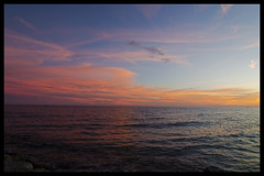 Frontier (Arnaud Huc) Tags: sea sky mer france color colors rose port nikon europe dusk couleurs horizon montpellier bleu ciel half nikkor languedoc frontier mauguio hrault moiti carnon frontire prols d5100 arnaudhuc