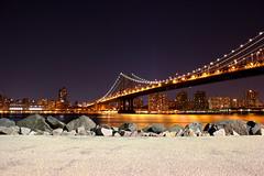 Manhattan Bridge at Night (Magus518) Tags: newyorkcity bridge manhattan manhattanbridge eastriver brooklynbridgepark