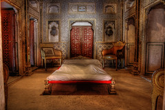 Bikaner IND - Junagarh Fort Royal Bedroom at Chandra Mahal