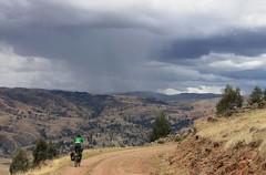 Heading for the rain near Cangallo