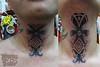 dayak punan throat (durgatattoo) Tags: black tattoo indonesia hand traditional tribal borneo tribe throat tato amulet tapping kalimantan dayak punan nusantara
