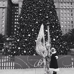 I Saw Mommy Kissing Predator (Ba®ky) Tags: sanfrancisco california christmas black tree japan weird arty artistic alien jesus kitsch predator wacky cartoonish mrsclaus iphone 芸術 سكس wowiekazowie iphoneography