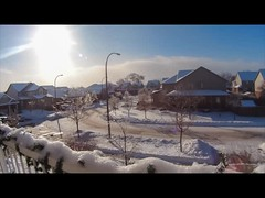Merry Christmas from Rock Steady Images (Rock Steady Images) Tags: christmas blue sky snow ontario canada clouds timelapse streetscene plugin 200views 50views imovie alliston 25views bypaulchambers lightroom40 rocksteadyimages sonyactioncamas15