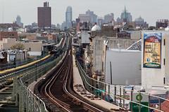 get it right (grapfapan) Tags: nyc subway advertising vanishingpoint horizon tracks queens elevated flickrandroidapp:filter=none urbanbrooklynländernewyorkcityusa