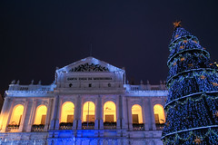 Christmas in Macau (Holy House of Mercy of Macau (Portuguese: Santa Casa da Misericrdia; Chinese: ), China (part of Historic Centre of Macau, UNESCO world heritage site) (Maria_Globetrotter) Tags: world china christmas travel blue winter house tree heritage dan beautiful architecture canon wow wonderful weihnachten lights navidad design photo vinter amazing interesting asia god spirit capital chinese pic noel tourist le hour merry feliz jul incredible kina blauwe cina kuai impressive cultural mercy chine attraction heure bleue patrimoine sheng joyeux bl blaue portugese  welterbe uur kiina  chiny in stunde timmen  frhliche img3413 650d 1585  vrldsarv werelderfgoedlijst verdensarven  mariaglobetrotter unesco