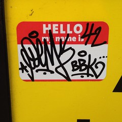 Edem (HotShitHuh??) Tags: chicago graffiti sticker rip edem kym bbk afroe42 uploaded:by=flickrmobile flickriosapp:filter=nofilter