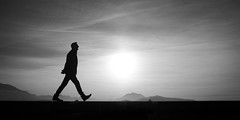 Walk Alone... (Thomas Leuthard) Tags: street leica white black training photography video flickr fuji thomas streetphotography olympus monochrom ebook omd hcb leuthard thomasleuthard
