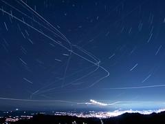 Stars8_IMG_4300-IMG_4361_connected_planes_enhanced ((Jessica)) Tags: sky stars star nightsky startrails airplanetrails chdk starstax