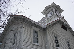 Sapporo Clock Tower (Jerry (jerrywongjh)) Tags: trip holiday tower clock japan sapporo hokkaido clocktower 2013  sapporoclocktower