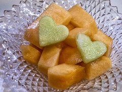 2014-02-14 Who says Valentine's Day isn't healthy????? (Mary Wardell) Tags: fruit canon healthy heart valentine melon cantaloupe odc g12 {vision}:{outdoor}=0867 {vision}:{food}=051