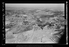 Jerusalem. Kedron Valley. Looking N., showing Gethsemane. & N.E. corner of city wall (APAAME) Tags: archaeology ancienthistory middleeast aerial libraryofcongress airphoto oblique aerialphotography matsoncollection nitratenegative aerialarchaeology geocodedbasedonsite