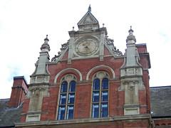 Royal College of Music, Kensington, London (teresue) Tags: uk greatbritain england london clock unitedkingdom knightsbridge kensington royalcollegeofmusic publicclock 2013 albertopolis princeconsortroad