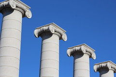 pillars (naharii) Tags: barcelona city blue sky architecture canon eos pillars 600d