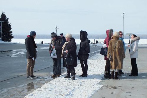 People gathering at Glory square ©  Narengoyn