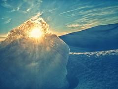 shine through (beachbum prints) Tags: winter sunset snow ice