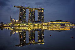 MBS (ckang69) Tags: city sunset reflection architecture marina sunrise lights bay singapore flickr cityscape centre esplanade getty bluehour financial fullerton mbs dbs ura baysand marinabayfinancialcentre