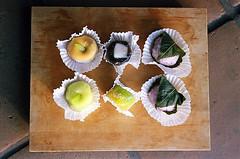 Manju from Little Tokyo Landmark Fugetsu-Do (jjldickinson) Tags: wood food dessert japanese longbeach mochi wrigley olympusom1 confectionery manju cuttingboard fujicolorsuperiaxtra400 fugetsudo promastermcautozoommacro2870mmf2842 promasterspectrum772mmuv roll490o2
