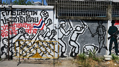 graffiti and streetart in bangkok (wojofoto) Tags: bangkok thailand graffiti streetart wojofoto wolfgangjosten protest political