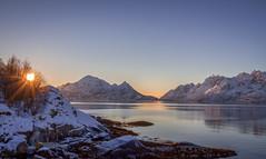 Raftsundet in the Lofoten Islands (Elin Jakobsen) Tags: sunset sunrays ocean sea islands lofoten norway arctic winter fjords seascape