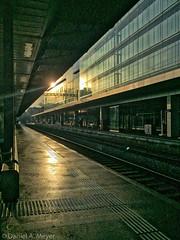 Station at Sunset (Anselm11) Tags: aarau bahnhof station gare sunset abendlicht train geleise track