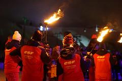 Descente aux flambeaux - Ecole du Ski Français - Hiver 2017