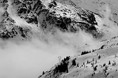 mountains (ignacy50.pl) Tags: mountain mountains highmountains clouds blackandwhite landscape winterlandscape winter slope snow france alps ignacy50 artphotography fullframe