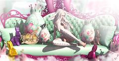 Easter bunny (meriluu17) Tags: boudoir zenith mystic bunny easter easternbunny egg eggs chicken ears fantasy kawaii cute cutiepie candy rabbits rabbit chocolate sofa animal magical magic surreal
