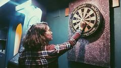 When i find u. (hülyaçam) Tags: myself woman dart contrast perspective color game playing turkey ankara play fri friends