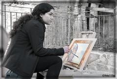 Lorena (ℝakel_ℰlke ﴾͡๏̯͡๏﴿) Tags: rakel raquel elke rakelelke raquelelke rakelmurcia regióndemurcia murcianorte murcia españa spain espagne europa europe alcantarilla ruedadealcantarilla nikon nikond300s d300s nikkor18–200 objetivo18200mm pintora retrato portrail lorena