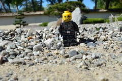 EL JOKER IN ZEN GARDEN (EL JOKER) Tags: el joker les allummers prod gimp linux nikon d7000 afs dx nikkor 35mm f18g couleur colour color jardin garden zen japonnais japanese architecture toulouse midipyrenees sud south france occitanie 31 2017 lumiere naturel natural light brique brick lego lunette glasses bouc barbe beard portrait jouet game jueguetes cc by nc nd png