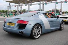 Audi R8 (D's Carspotting) Tags: audi r8 france coquelles calais blue 20100613 fy59xnf le mans 2010 lm10 lm2010