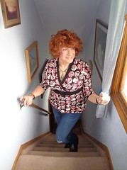 Casual Thursday (Laurette Victoria) Tags: jeans redhead curly woman laurette