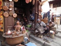 Copper shop, Fes Medina (AJoStone) Tags: morocco fes copper