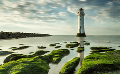 Perch Rock Lighthouse, New Brighton, Merseyside (Snap Tin) Tags: liverpool mersey newbrighton lighthouse longexposure leefilters coast sea seascape landscape clouds sony alpha merseyside rocks reflection reflections a77 water sky perchrock