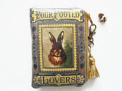 Hare waterproof credit card wallet. (Jigglemawiggle) Tags: waterproofpouch smallstorage creditcardwallet hares rabbits etsy jigglemawiggle handmade scotland selkirk folksy girlfriendgift