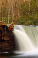 High Falls: Jutting rock (Shahid Durrani) Tags: high falls monongahela national forest cheat river west virginia