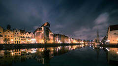 Gdansk (Tommy Høyland) Tags: historic sailing reflection city tourist gdansk old crane lights 2017 fuji architecture boat naval visit night medieval port harbor evening picturesque polish water xt2 adventure xf1024 vessel river urban travel town hanseatic buildings fujifilm danzig marine polen