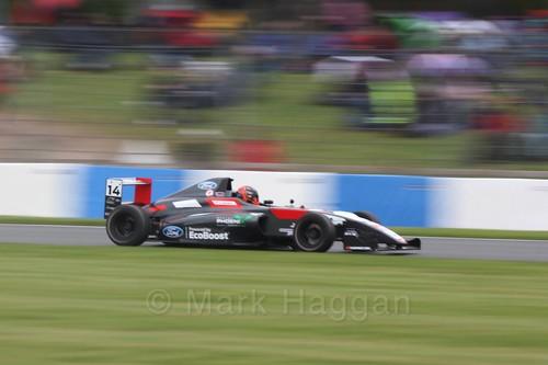 Karl Massaad in British Formula Four Race Three at the British Touring Car Championship 2017 at Donington Park