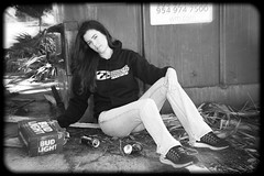 When your model parties before a shoot (taddzilla) Tags: model brunette heatshieldproducts lady female sexy beer budlight drinking dumpster poordecision photoshoot canon7d hoodie cute jeans trash toughwork pretty coopercity florida 2017 allrightsreserved