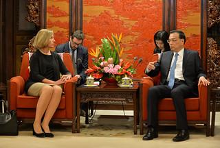 Federica Mogherini visits China, April 2017
